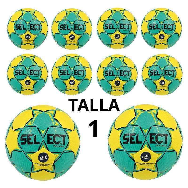 PACK 10 BALONES BALONMANO SELECT SOLERA TALLA 1