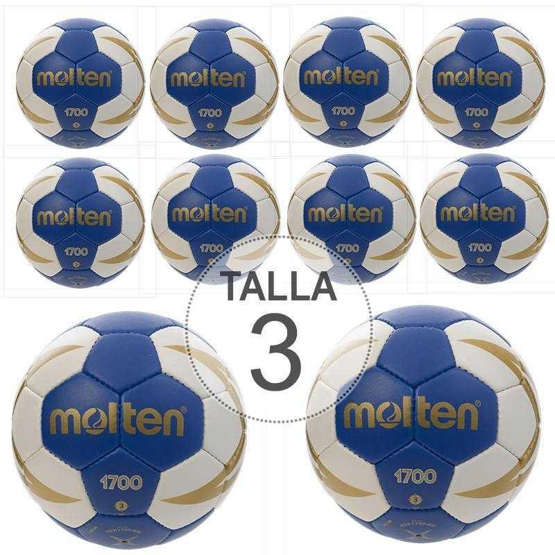 Pack 10 Balones Balonmano Molten 1700 talla 3