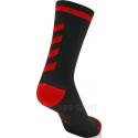 Calcetines Hummel Elite Indoor Sport Low Medios Negro/Rojo