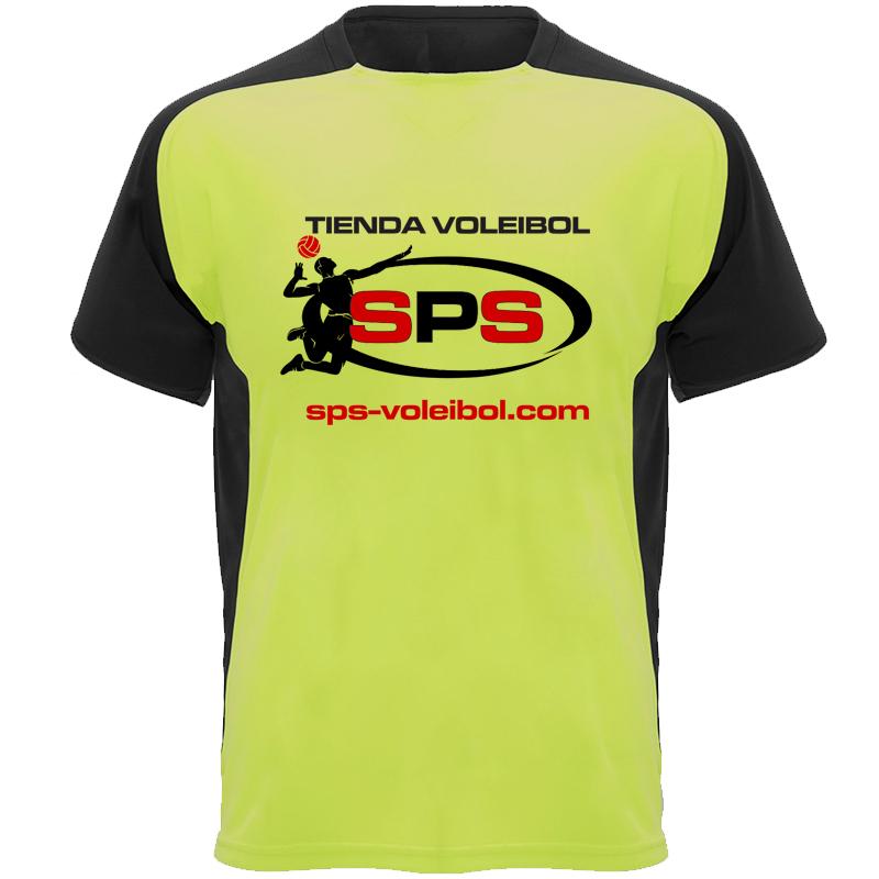 Camiseta Técnica SPS Voleibol Amarillo-Negro