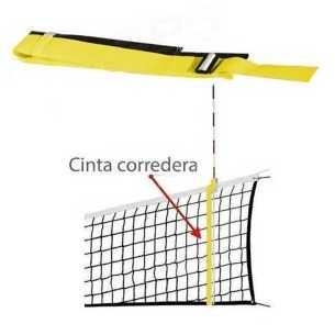 2 Bandas correderas Amarillo - Antena Voleibol