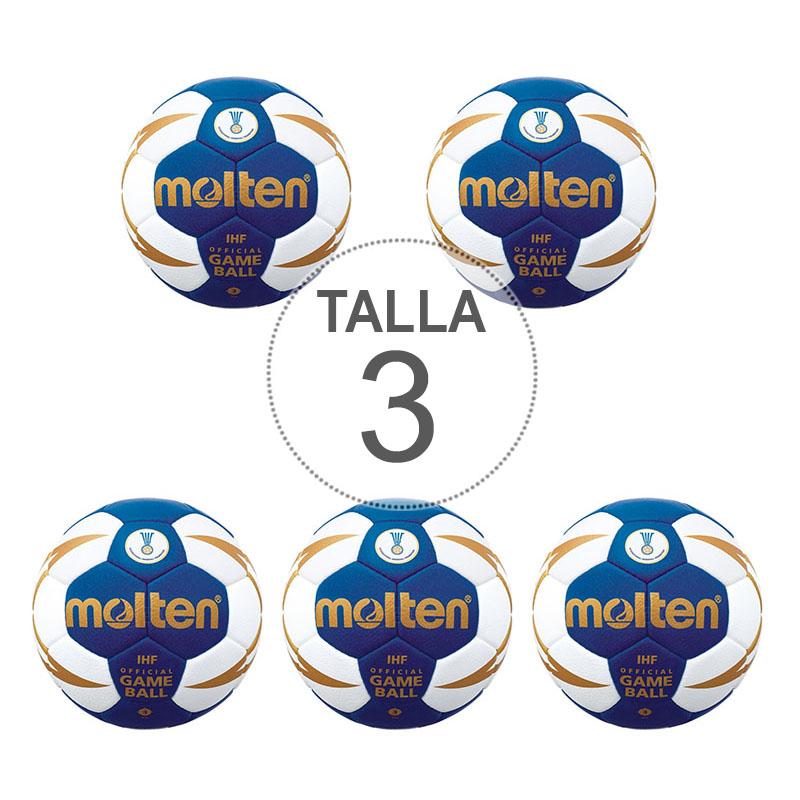 Pack 5 Balones Molten H3X5000 Talla 3