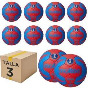 Pack 10 Balones Molten 3200 Talla 3 Azul-Rojo